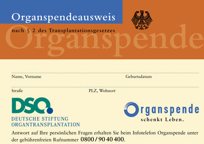 organspendeausweis dso
